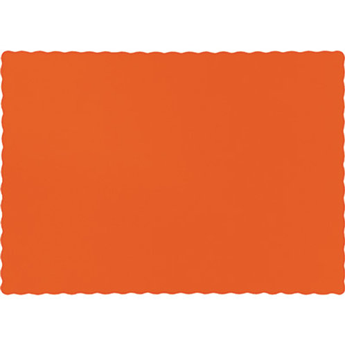 Color Paper Placemats, Orange Sunkissed  (100 Count)