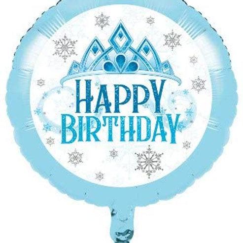 Snow Princess Birthday Party Decorations, Snowflake Design Mylar Balloon, Box of