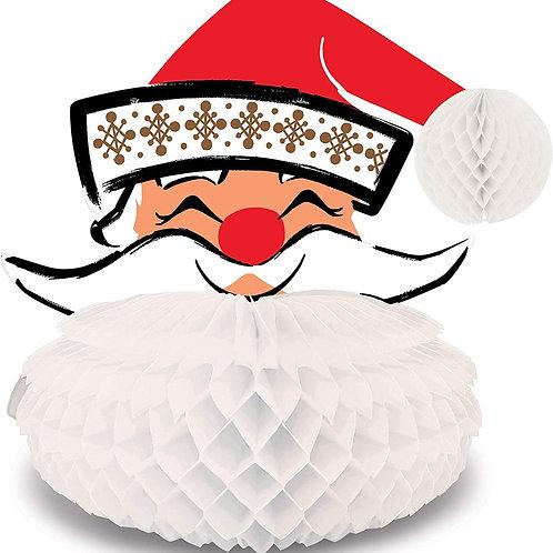 Christmas Decorations Party Favors, 3-D Vintage Santa Centerpiece with Honeycom