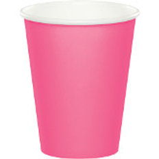 Club Pack of 240 Cotton Candy Pink Disposable Paper Hot and Cold Drinking Party