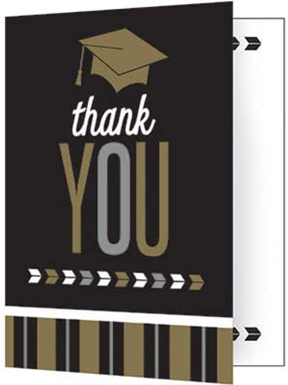 Graduation Party Glitzy Grad Printed Party Thank You Notes, Box 75 Thank You Not