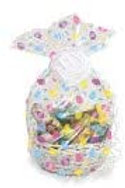 Easter Egg Clear Plastic Cello. Bag box of 12 (basket not included)