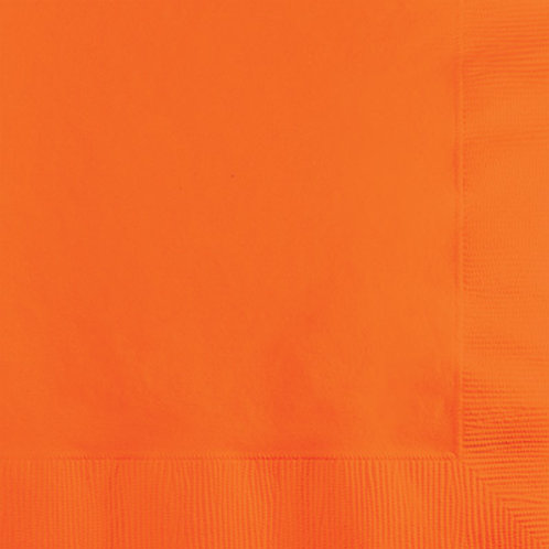 Creative Converting 600 Count Touch of Color Luncheon Paper Napkins, Orange