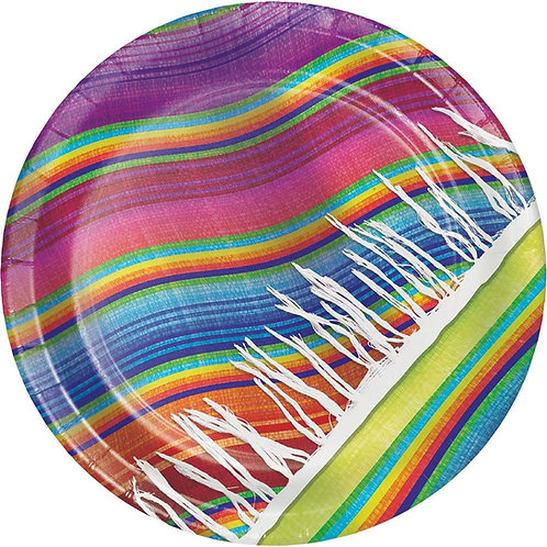 Serape 96 Count Sturdy Style Dinner/Large Paper Plates