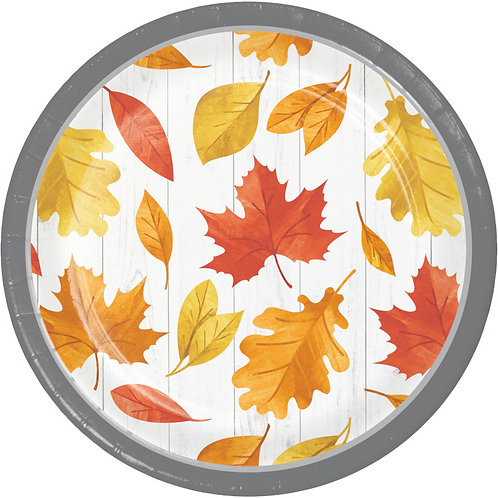 Creative Converting Falling Leaves, 7 Inch Round Paper Plates, Box of 96