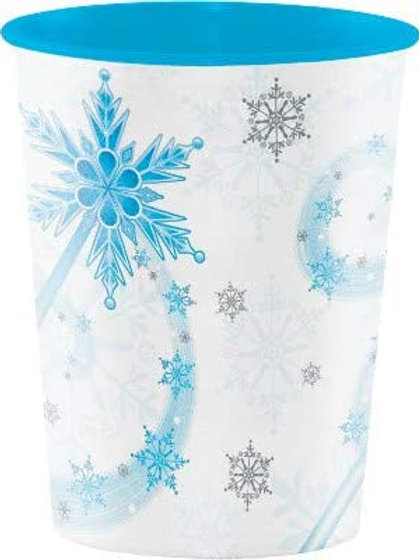 Snow Princess Birthday Party Decorations, Snowflake Design 16 Ounce Plastic Cup
