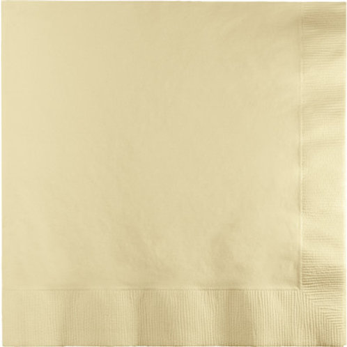 Creative Converting 600 Count Touch of Color Beverage Paper Napkins,Ivory