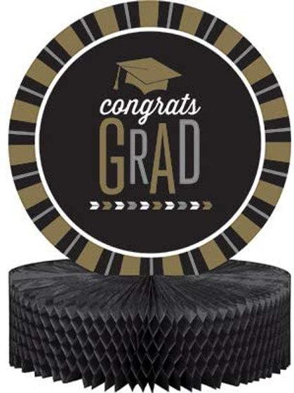 Club Pack Graduation Party Glitzy Grad Printed Centerpiece Cutout Tissue Base,