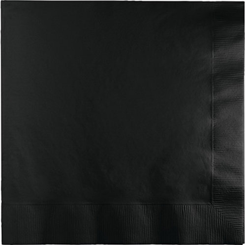 Creative Converting 600 Count Touch of Color Beverage Paper Napkins,Black