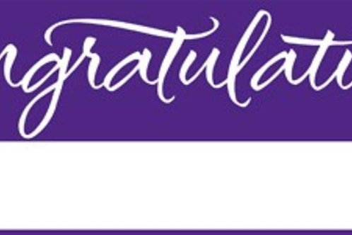 Pack of 6 Purple and White Giant Graduation Party Banners 5'