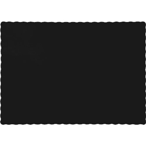 Color Paper Placemats, Black (100 Count)