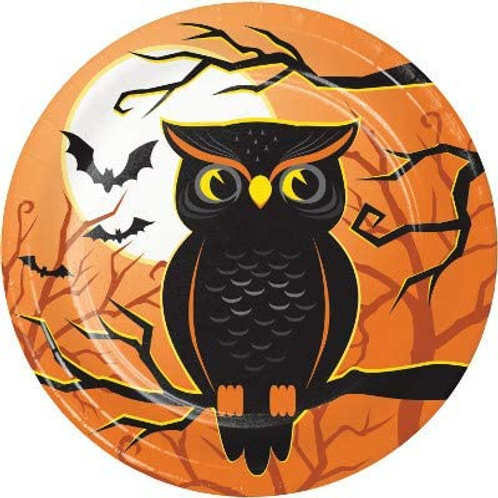 Halloween Party Decorations, Halloween Haunted House Theme Printed 7 Inch Round