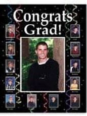 Creative Converting Club Pack Graduation Party Decorations Personalized Photo F