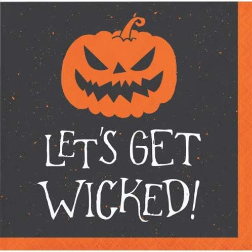 Halloween Party Decorations,Let's Get Wicked Theme Printed Beverage Size Paper N