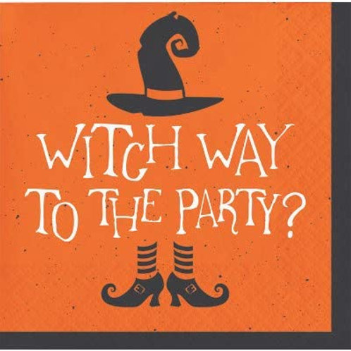 Halloween Party Decorations, Witch Way to The Party Theme Printed Beverage Size