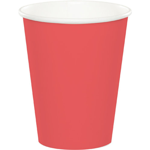 Club Pack of 240 Classic Red Disposable Paper Hot and Cold Party Tumbler Cups 9