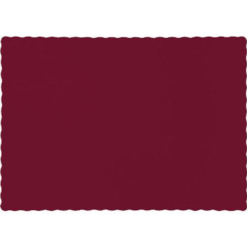 Color Paper Placemats, Burgundy (100 Count)