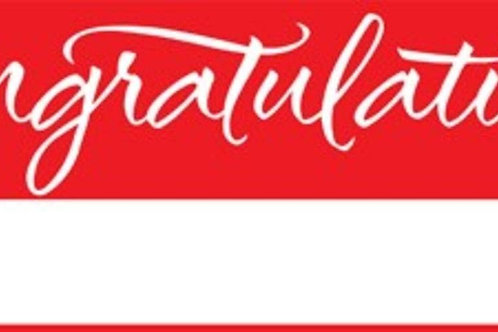 Pack of 6 Classic Red and White Giant Graduation Party Banners 5'