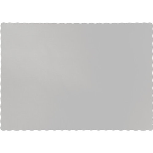 Paper Placemats, Shimmering Silver(100 Count)