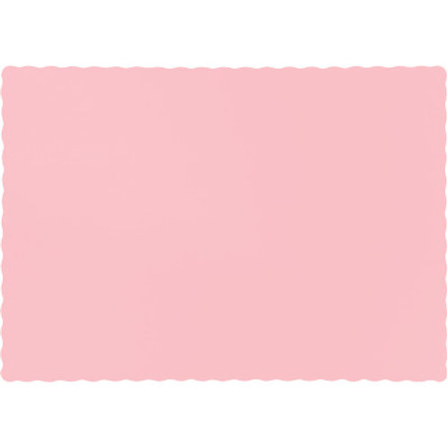 Color Paper Placemats, Classic Pink(100 Count)