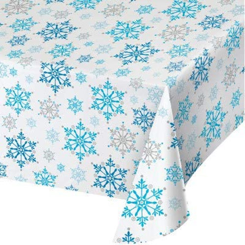 Snow Princess Birthday Party Decorations, Snowflake Design Plastic Tablecover 54