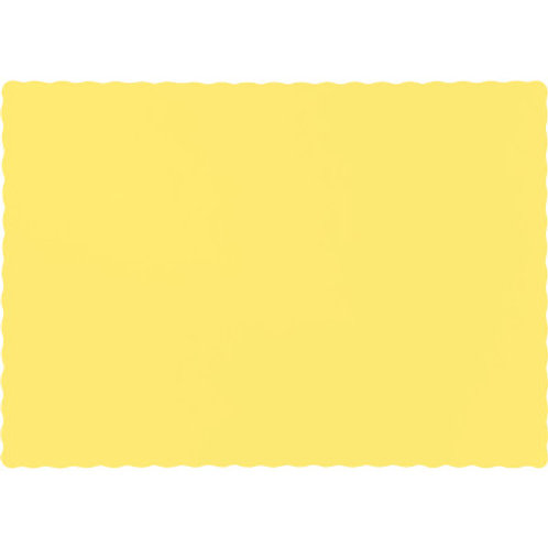 Color Paper Placemats, Mimosa (100 Count)
