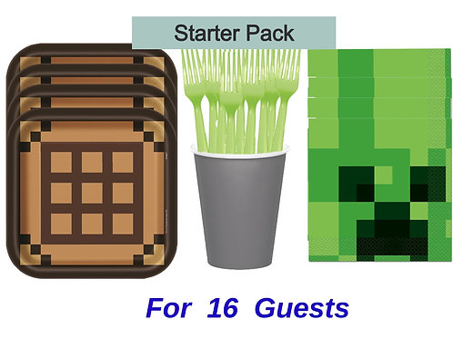 Minecraft Party Bundle Options 16 to 32 People