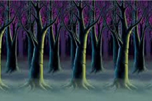 Pack of 6 Spooky Forest Trees at Dark Backdrop Halloween Party Decorations 30