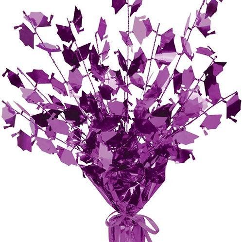 "Club Pack of 12 Purple Foil Spray Graduate Cap Gleam 'N Burst Centerpieces 15"""