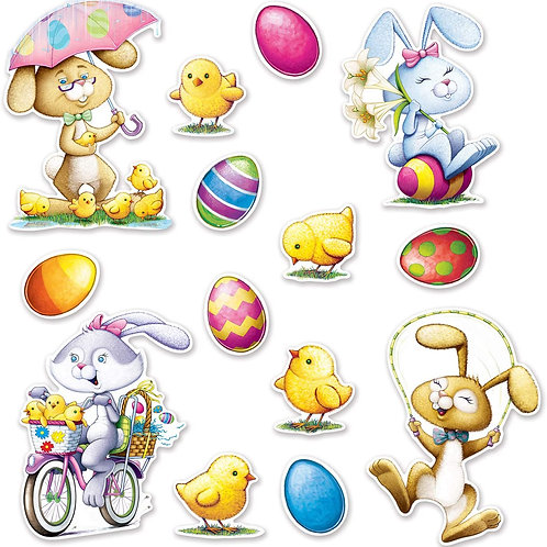 Easter Decoration Box of 160 asst. cutouts