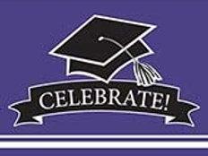 Graduation School Spirit Purple Color Printed Party Invitations, Box of 75 Party