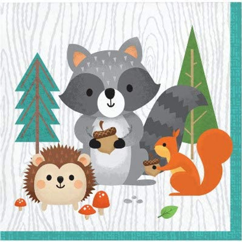 Woodland Animal Creatures Party Supplies, Wild One Birthday Decorations Beverage