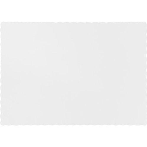 Color Paper Placemats, White  (100 Count)
