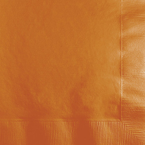Creative Converting Touch of Color 600 Count Paper Lunch Napkins, Pumpkin