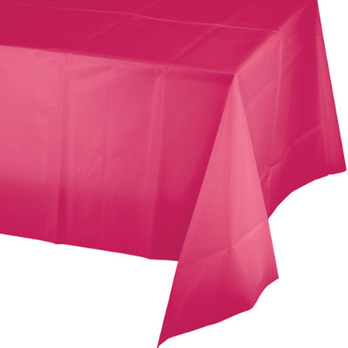 Touch of Color 12 Count Plastic Table Cover, 54 x 108""