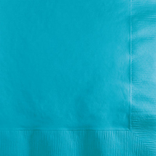 Creative Converting 600 Count Touch of Color Beverage Paper Napkins,Bermuda Blue