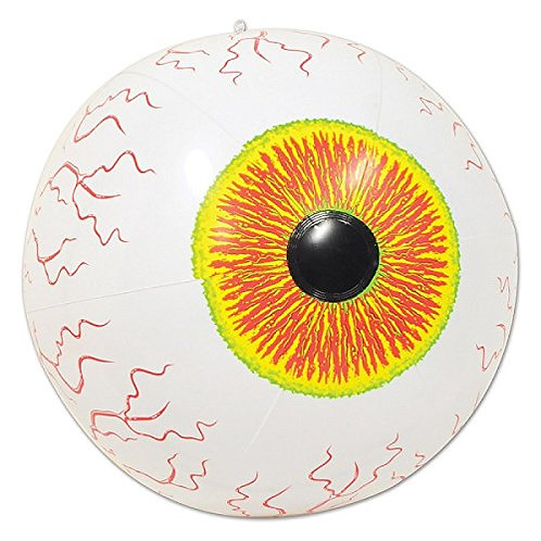 """Club Pack of 12 Crazy Eyeball Inflatable Halloween Decoration 16"""""""
