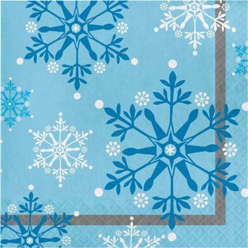 Snow Princess Birthday Party Decorations, Snowflake Design Luncheon Paper Napkin