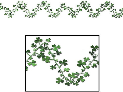 Pack of 12 Gleam 'N Flex Shamrock St. Patrick's Day Hanging Garland Decorations