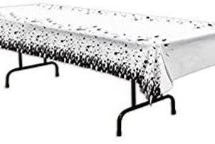 """Pack of 12 Black and White Graduation Decorative Party Tablecovers 108"""""""