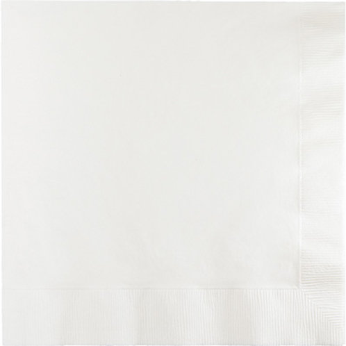 Creative Converting 600 Count Touch of Color Luncheon Paper Napkins,white