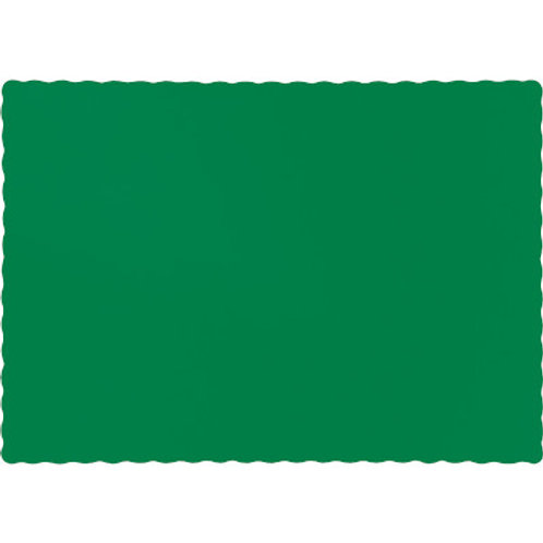 Color Paper Placemats, Emerald Green (100 Count)