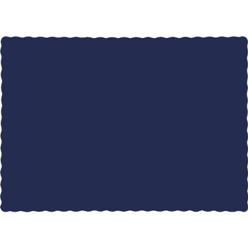 Color Paper Placemats, Navy (100 Count)