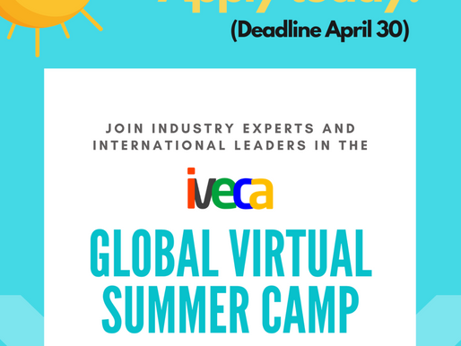 Apply today for the IVECA Global Virtual Summer Camp 2021! (Deadline: April 30)