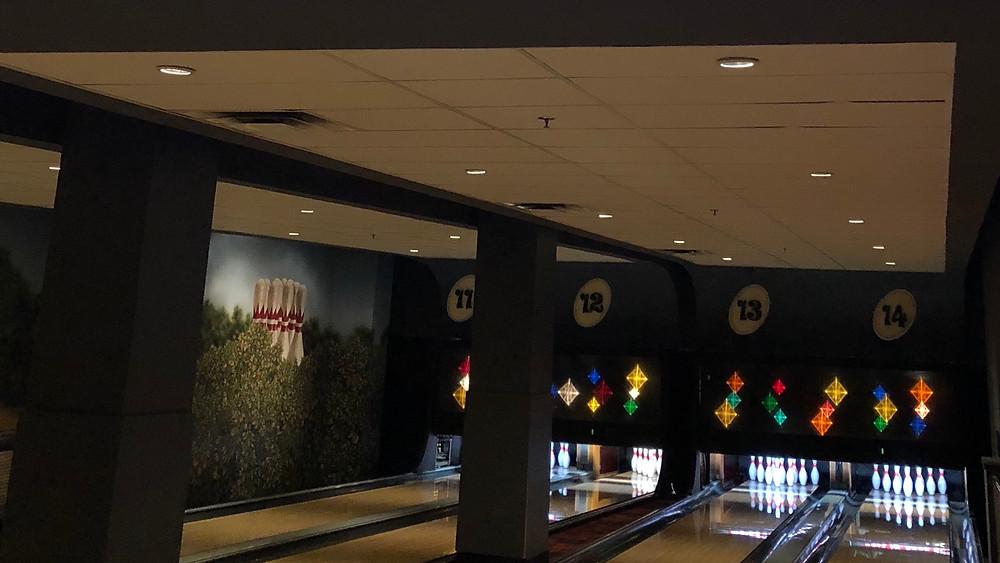 Bowling lanes at Splitsville in Disney Springs