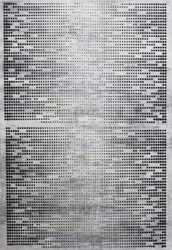 Dialogs 1,100x70cm, acrylic on canvas, 2018