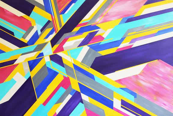 A new beginning, acrylic on canvas, 150x100cm, 2017