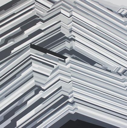 Rutile, acrylic on canvas, 120x120cm, 2019