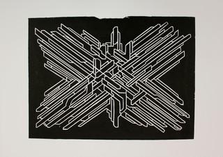 Moment, linocut, 40x29,5cm, 2017