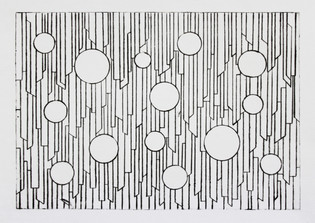 Elements in movement 5, dry-point, 29,5x20,5cm, 2017